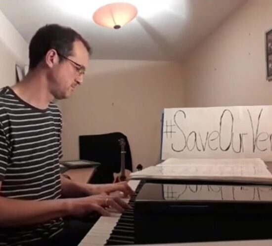 Pianist with piano shell for hire